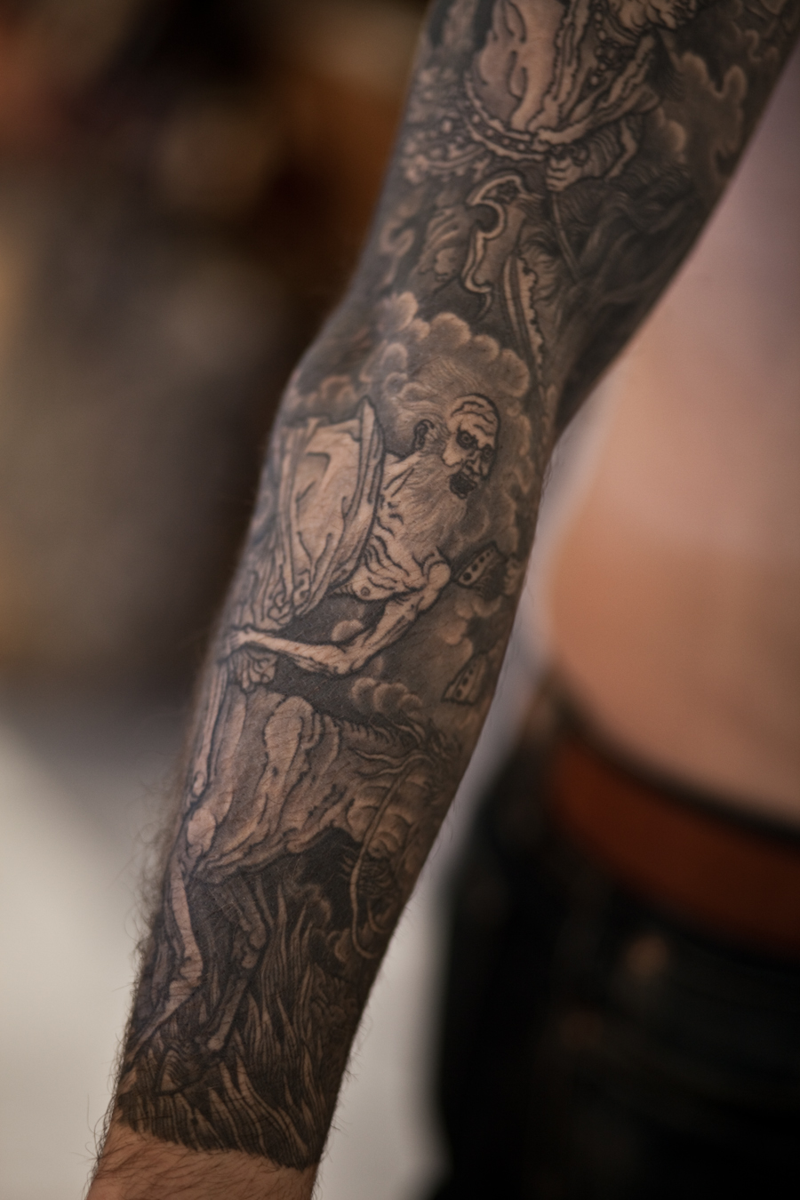 Four Horsemen Of The Apocalypse Sleeve Tattoo Thomas Hooper 2011 Nyc
